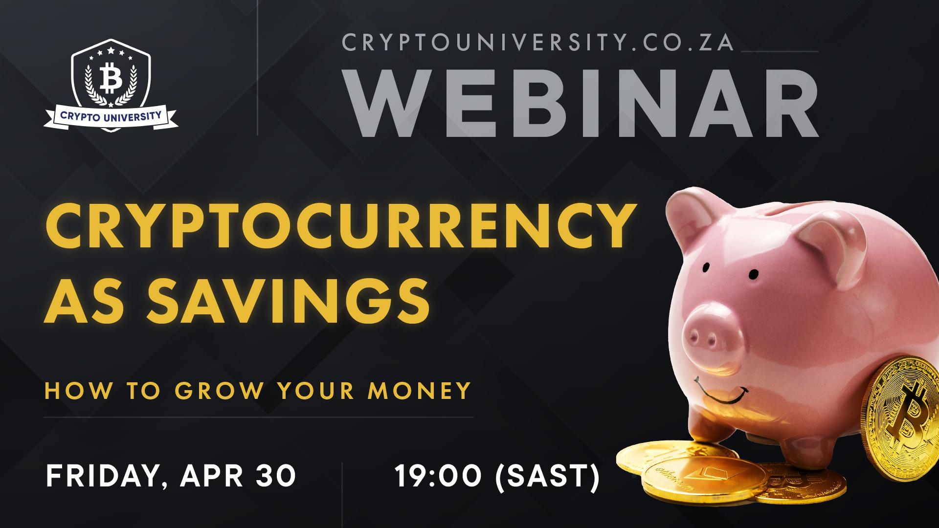 Cryptocurrency As Savings